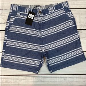 FIVE/FOUR Men's Casual Striped Shorts - 36
